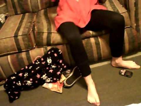 cuffed girls feet
