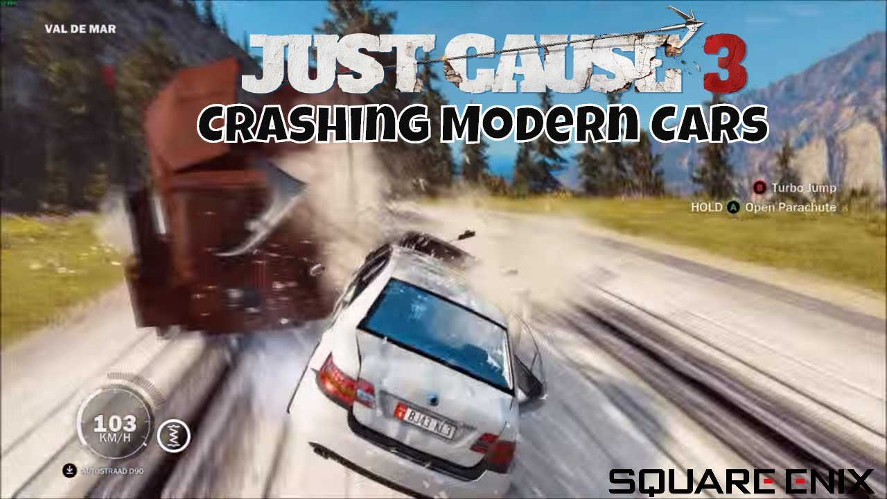 Just Cause 3 Crashing all Modern Cars VS The Train - YouTube