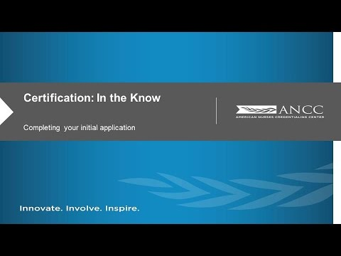 ANCC Certification: Completing Your Initial Application - YouTube