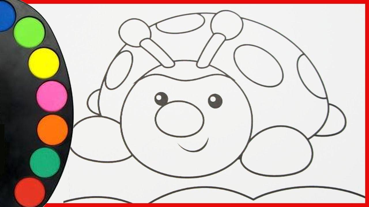 Coloriage Coccinelle.Coloriage Coccinelle Arc En Ciel How To Draw Learning Colors