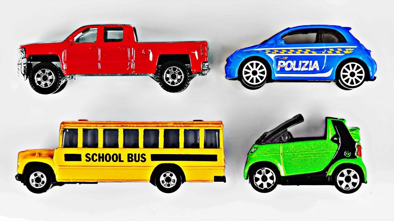 Best Matchbox Cars And Toys For Kids : Learning colors with street vehicles for kids toy cars