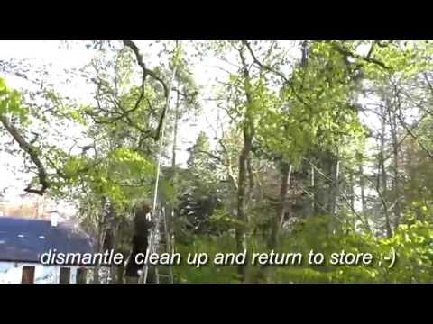 Quad Copter Drone Stuck 50 Foot Up Tree, Free Recovery System