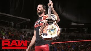Seth Rollins destroys Elias' prized guitar: Raw, June 11, 2018