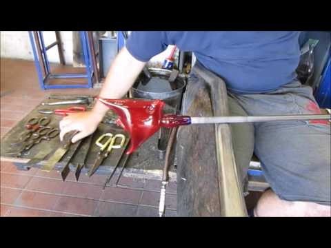 Glass Blowing - Making A Sculpted Flat Fish