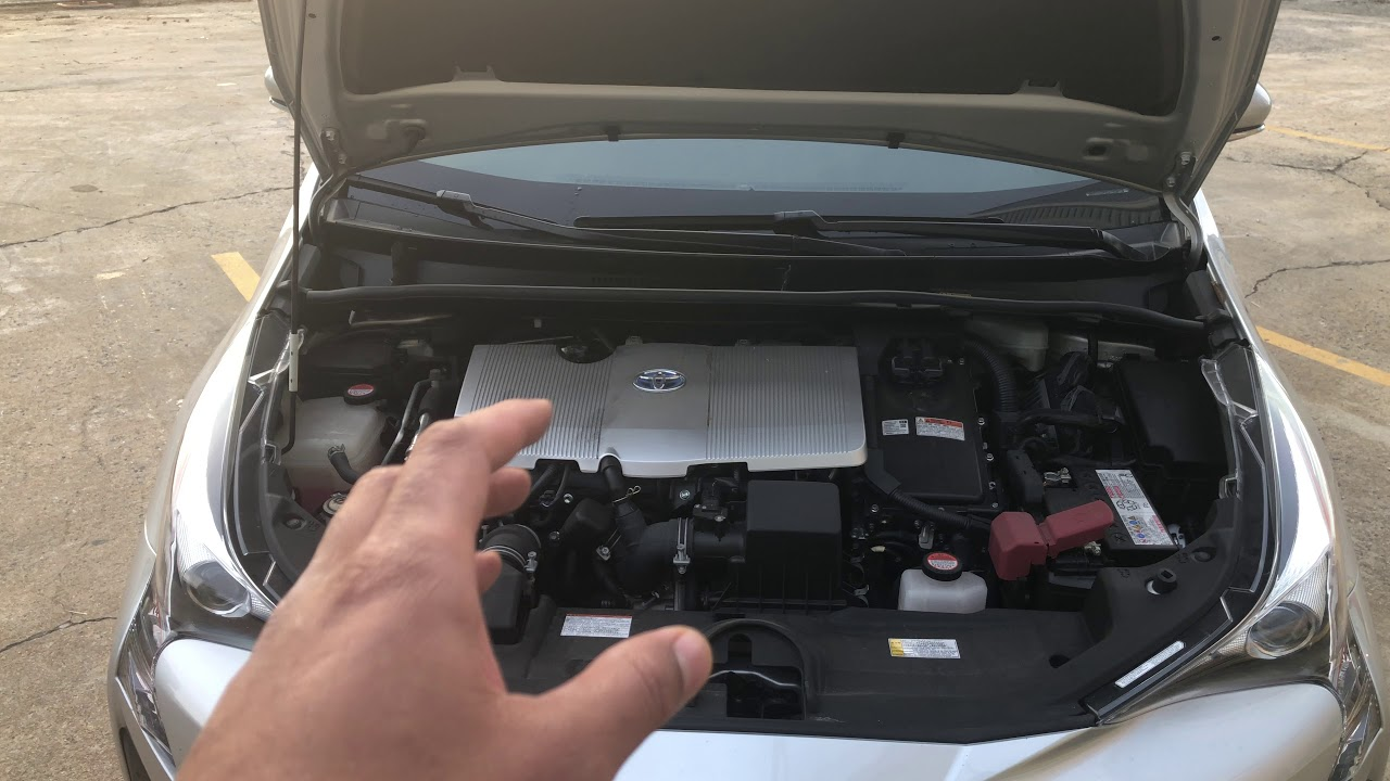 hight resolution of coolant reservoir location in toyota prius