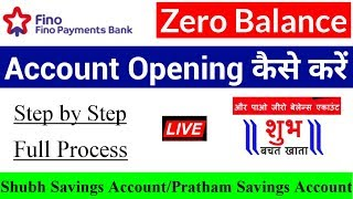 How to Open Fino payment bank account with zero balance   fino bank account opening process 2019