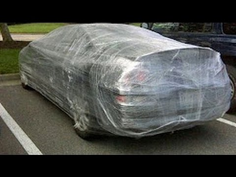 Plastic Wrap Car >> Extreme Plastic Wrap Car Prank He Pulled Out A Bat Youtube