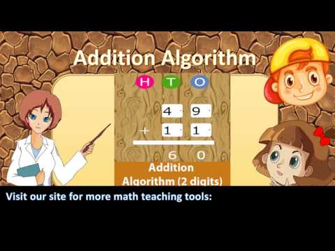 Addition Algorithm 2 digits
