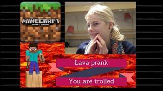 Lava Prank Redstone -troll Your Friends-