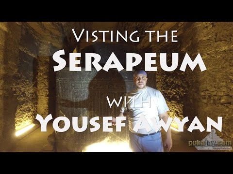 Visiting the Serapeum at Saqqara, Egypt - incredible ancient megalithic site - Pukajay Productions