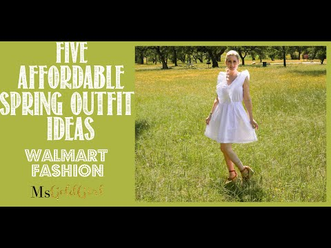 5 AFFORDABLE Spring Outfit Ideas | Dresses Under $50 | Walmart Fashion | MsGoldgirl