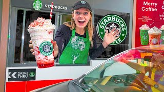 I Open Up My Own STARBUCKS At Home | Working at my New Job for 24 Hours! (Pond Monster Caught Me...)