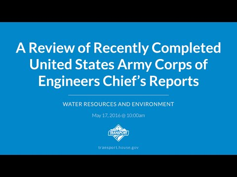 A Review of Recently Completed United States Army Corps of Engineers Chief's Reports