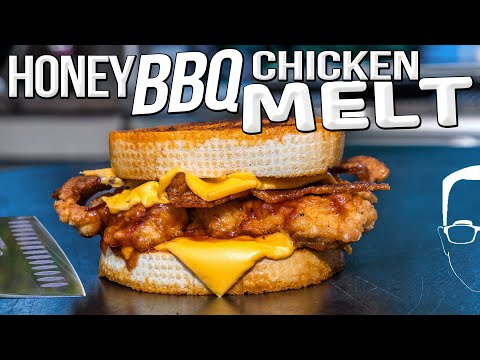 THE BEST HONEY BBQ CHICKEN MELT | SAM THE COOKING GUY 4K