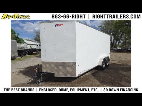7x16 Pace American | Enclosed Cargo Trailer