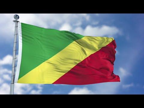 Congo Republic Flag Animation Stock Motion Graphics