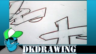 Graffiti Tutorial for beginners - How to draw cool letters W & X