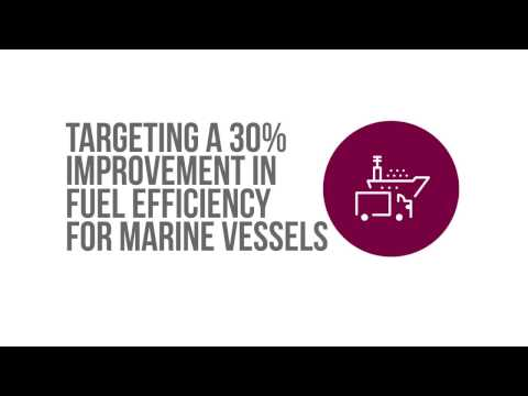 Targeting a 30% improvement in fuel efficiency for Marine vessels