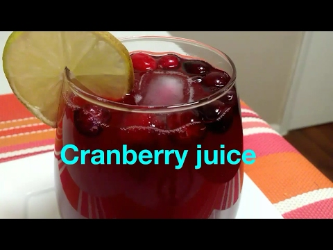 How to make Homemade Cranberry juice/ Cranberry Drink/ Cranberry diet juice.