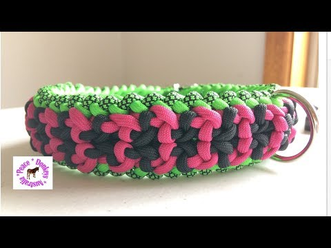 How to make a Vortex bar paracord dog collar  semi-adjustable (modified sanctified)