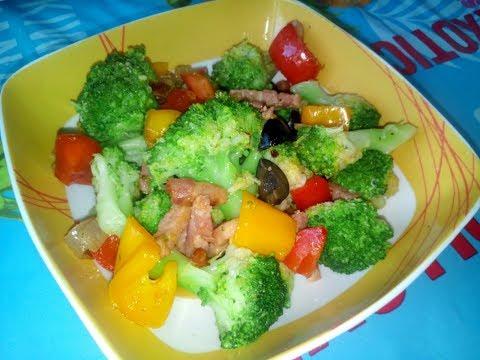recette-facile-et-rapide-poêlée-de-brocoli-&-de-poivron-recettes-facile