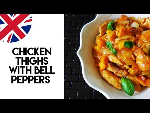 Chicken Thighs With Bell Peppers