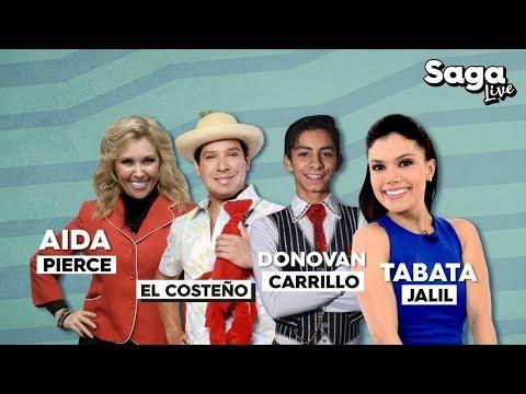 Tabata Jalil, Aida Pierce, Donovan Carrillo y El Costeño en #SagaLive con Adela Micha