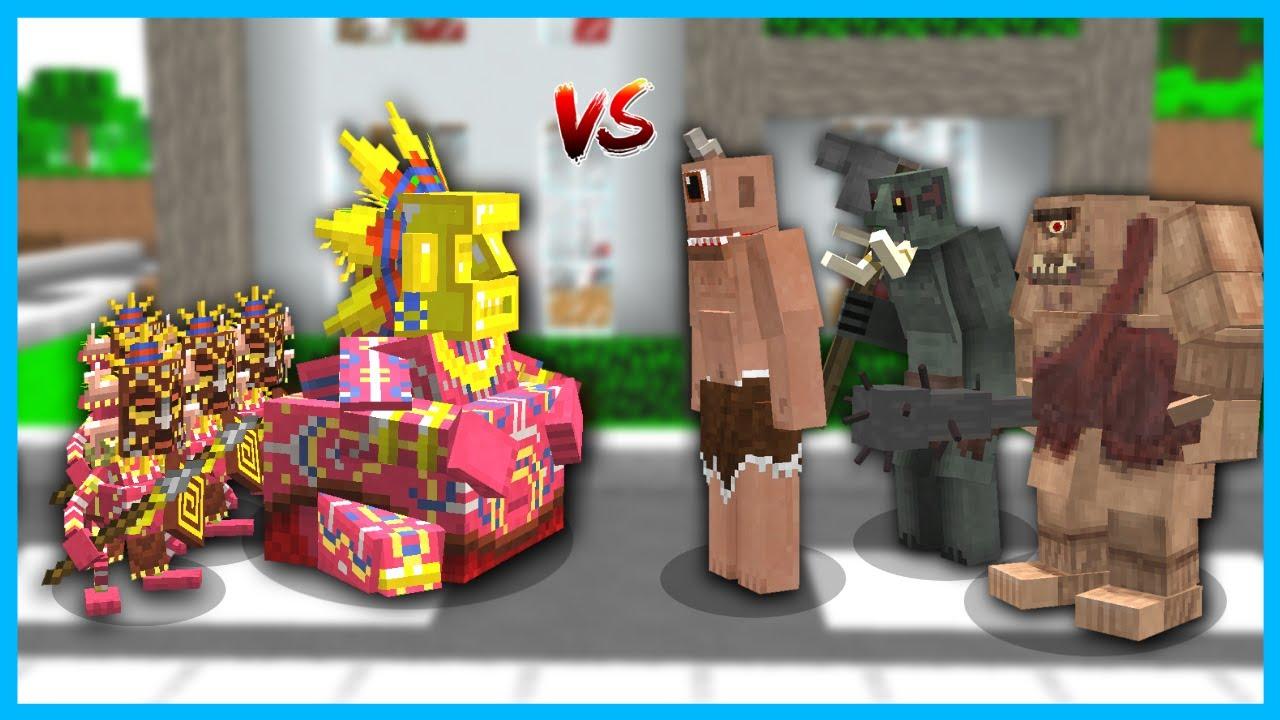YAM YAM KRAL ORDUSU TEPEGÖZ ORDUSUNA SALDIRDI! 😱 - Minecraft