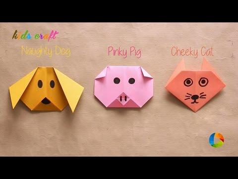DIY: Origami Animal Faces | Kids Craft