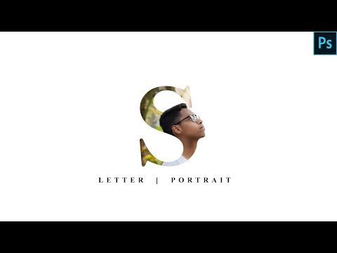 Letter Portrait || Photoshop Tutorial || Text Masking Effect 2019 || By F I Shuvo Editz 2019 thumbnail