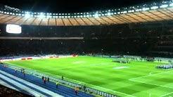 Deutschland - Schweden 2012 im Olympia Stadion die Aufstellung