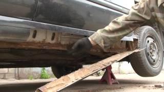 Как заменить и отремонтировать пороги своими руками Renault Laguna #1