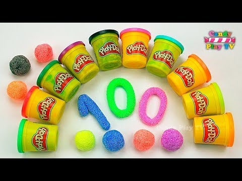 Learn To Count with PLAY DOH Numbers   1 to 100   Squishy Glitter Foam   Learn To Count for Children