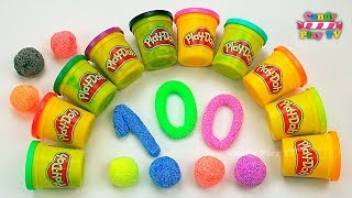 Learn To Count With Play Doh Numbers | 1 To 100 | Squishy Glitter Foam | Learn T