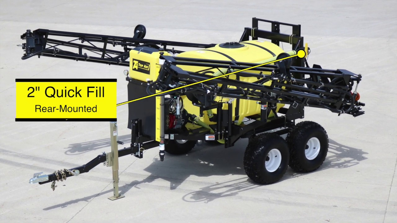 Top Air Pull Type Atv Field Sprayer Features Youtube