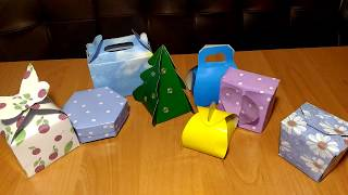 Подарочные коробки своими руками и кот Мурзик/Gift boxes with your own hands and the cat Murzik