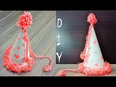 How to make Birthday Party Hat - DIY paper hat - DIY Paper Cap