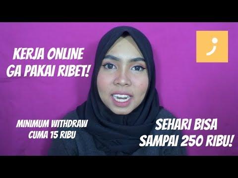 DAPAT SAMPAI 250 RIBU SEHARI DARI KERJA ONLINE MUDAH BANGET REVIEW  SAMPINGAN (JABODETABEK ONLY)