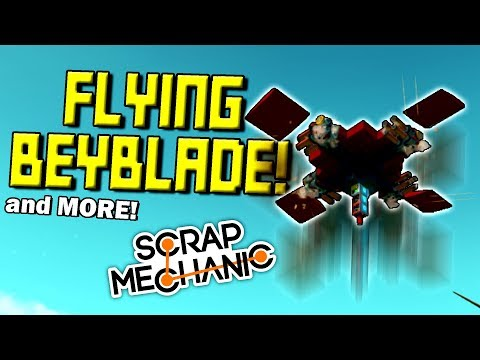FLYING BEYBLADE, SUPER SWING, PAPER PLANE, and MORE! (Speed Builds Ep 20) - Scrap Mechanic Gameplay