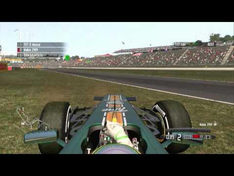 F1 2011 - Proper physics/Auto spin curb
