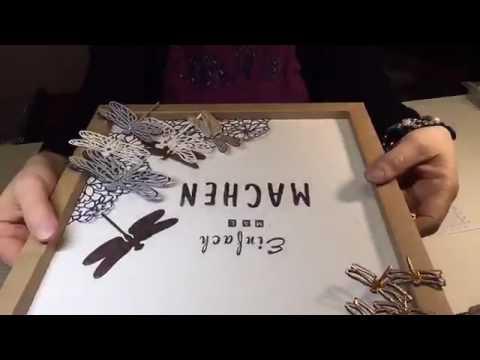 Bilderrahmen selber machen aus papier  Bilderrahmen selber machen aus Papier - Shadowbox - Anleitung - YouTube