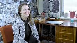 Alumnivideo, kudonnan ohjaaja ja kuosisuunnittelija Karoliina Erkinjuntti