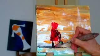 Как нарисовать морской пейзаж.Техника мастихином. Уроки живописи и рисования. Мастихин. Часть2