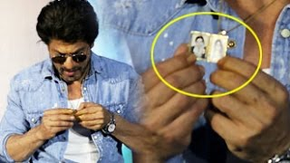 Shahrukh Khan Shows His Raees LOCKET To Media Reporters