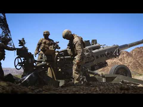 MARINES: MAWTS-1 Fire M777 Howitzer During Weapons & Tactics Training in California.