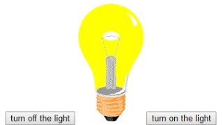 turn on the light: web page using: