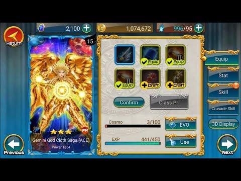 Guía Saint Seiya Zodiac Brave ; Gemini God Cloth Saga (ACE)