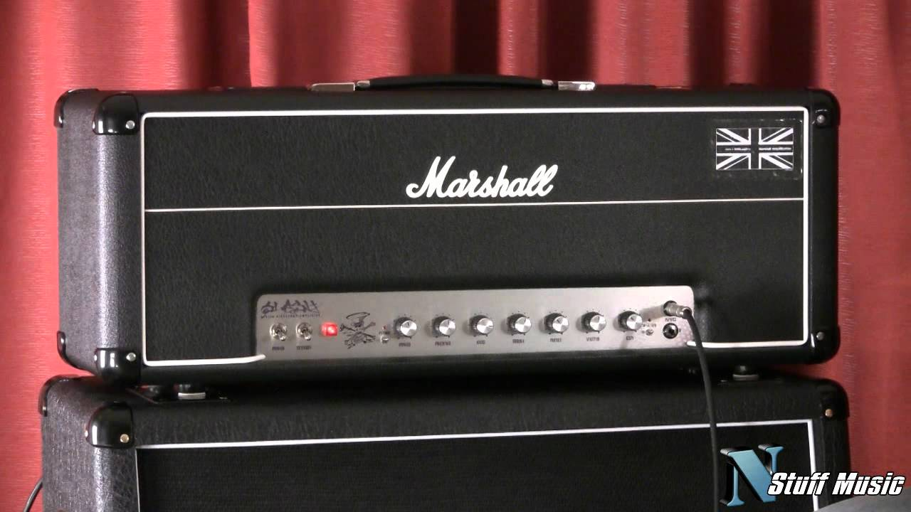 100 Amp Disconnect >> Marshall AFD100 Slash Signature Series Amp - YouTube