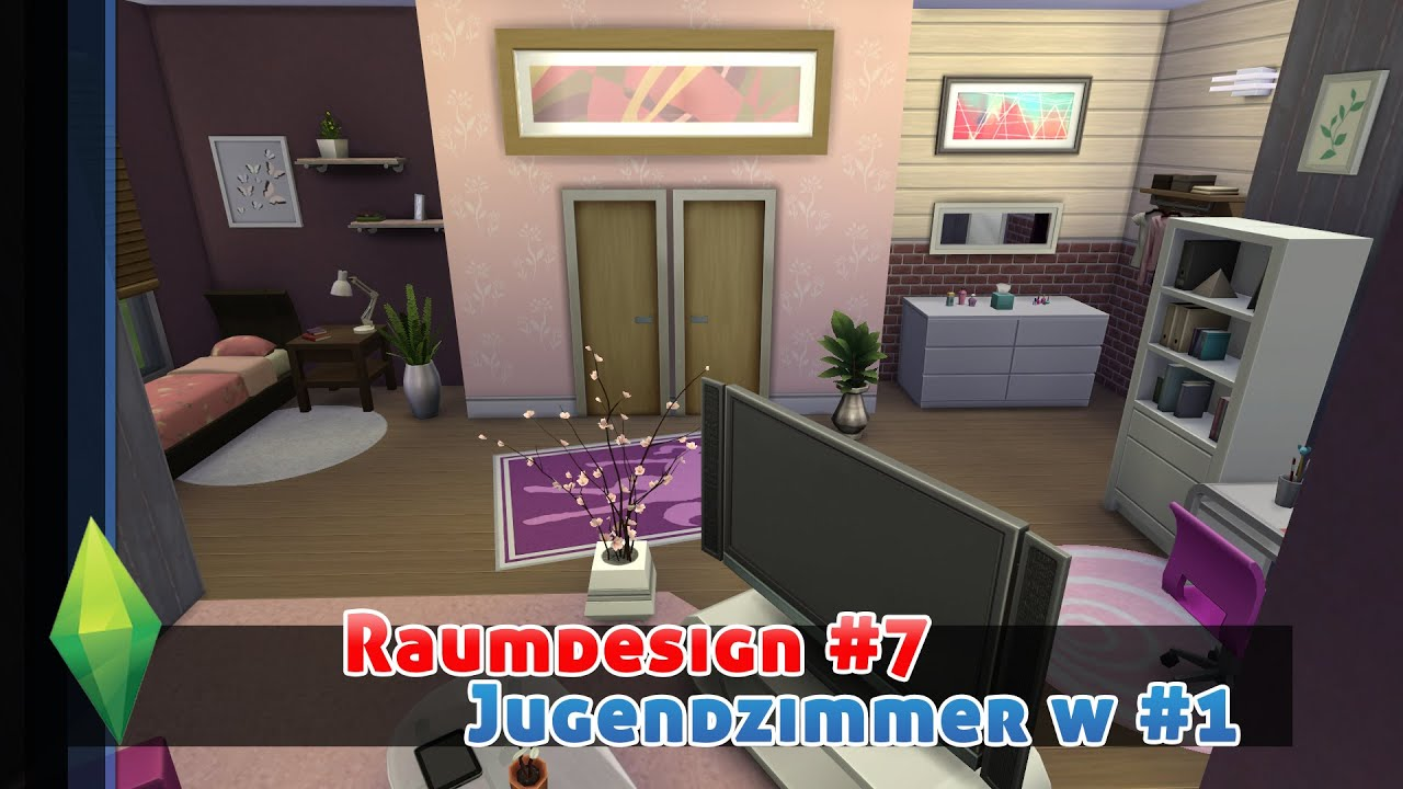 Die Sims 4 Raumdesign/Roomdesign #7   Jugendzimmer W #1   YouTube