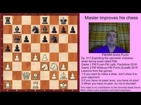 Chess-Exploiting the oponents' mistakes when facing lower-rated FMs